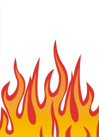 fiery: Vector illustration of fire flames