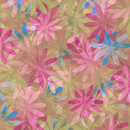 Seamless floral pattern in soft color - beige and pink photo