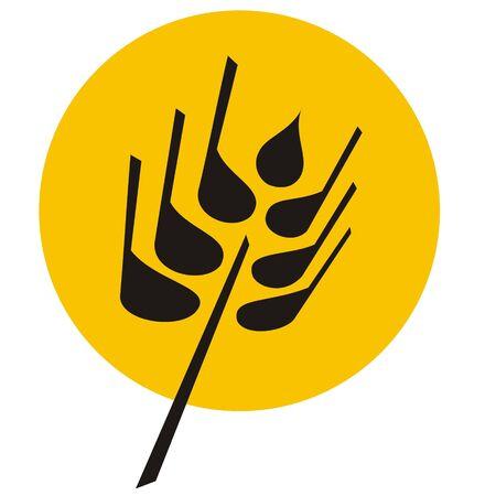 Vector illustration of grain - wheat symbol