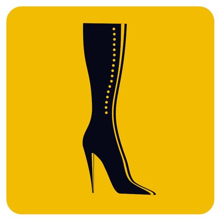 Vector illustration of Girl boot icon