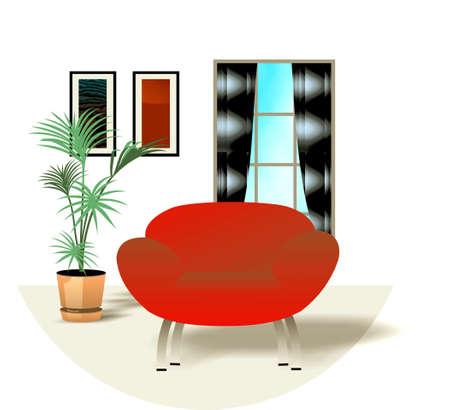 Interior design - illustration de la décoration d'une maison Banque d'images - 2725072