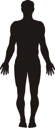 guy standing: Vector illustration of human body silhouette Stock Photo
