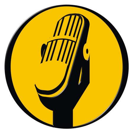 Vintage microphone icon photo