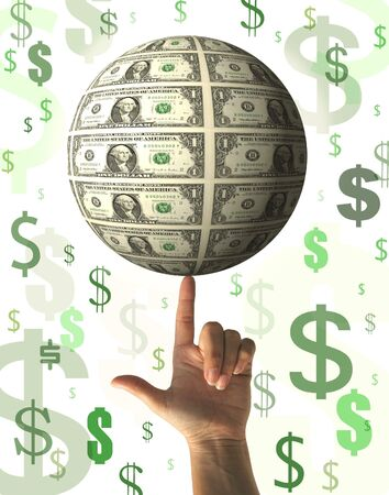 Financial concept - raining money