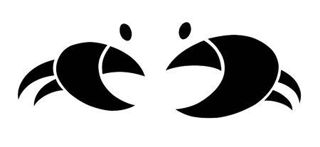 cangrejo caricatura: Cangrejo geométrica ilustración más blanco