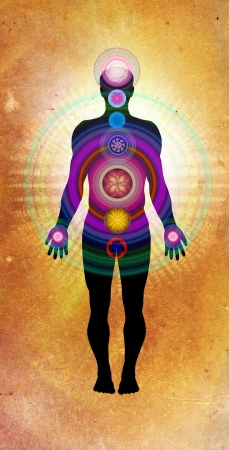 Body Chakras - healing energy photo