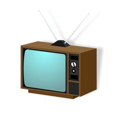 Vintage TV illustration isolated on white Stock Illustration - 3236447
