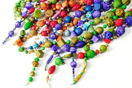handmade fashion accessories with colorful clay beads
