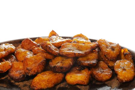 typical: Typical cuban dish isolated - fried banana