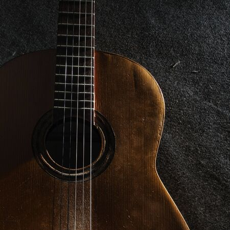 acoustic guitar: Abstract background still life with acoustic guitar