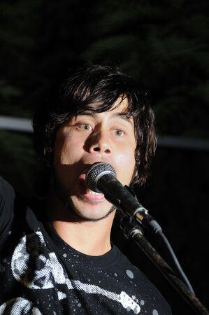 vocalist: Portrait of young vocalist performing live - la havana