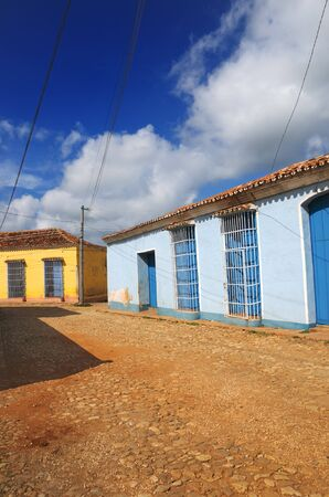 A view of typical rural street in Trinidad town, cuba photo
