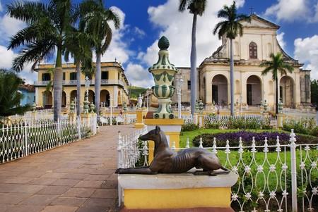 A view of plaza mayor in Trinidad, cuba Imagens