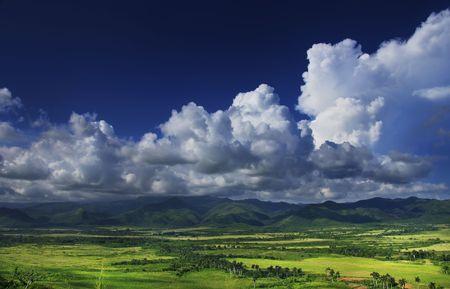 A view of Sierra del Escambray landscape in trinidad, Cuba photo