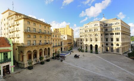 frontage: Panoramic view of Old Havana plaza with typical colonial buildings