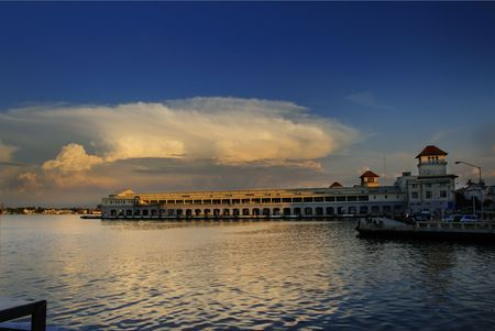 View of Havana bay with dramatic sunset  Stock Photo - 6350150