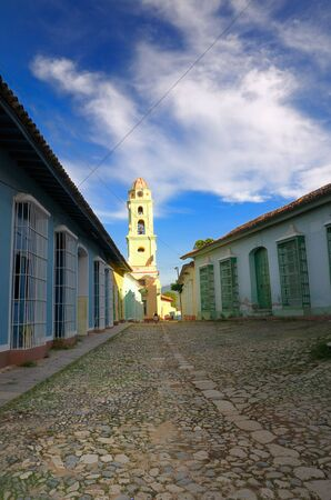 View of vintage town architecture in trinidad, cuba photo