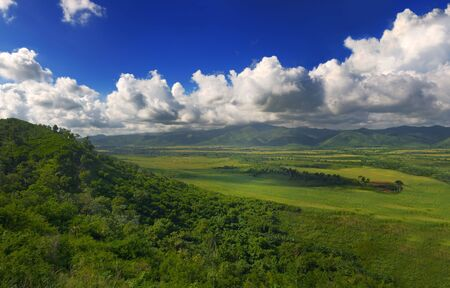 Panoramic landscape view of Sierra del Escambray in Cuba Stock Photo - 6665835