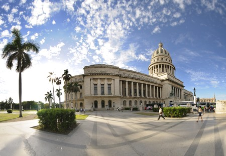 Havana, cuba. circa dec 2009. View of havana capitoly building, one of the most relevant city landmarks built in 1929. Stock Photo