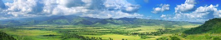 Panoramic landscape view of Sierra del Escambray in Cuba photo