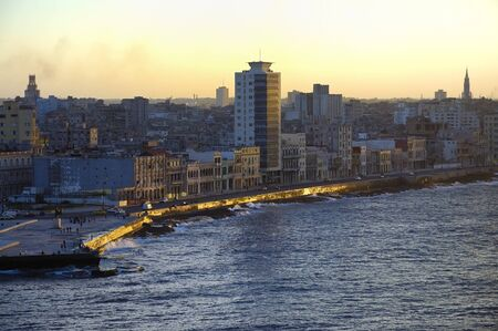 View of Havana waterfront and skyline at sunset Stock Photo - 6983566