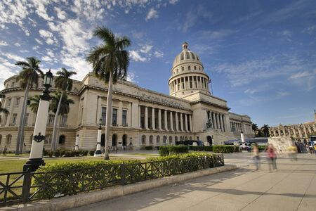 View of havana capitoly building, one of the city landmarks photo