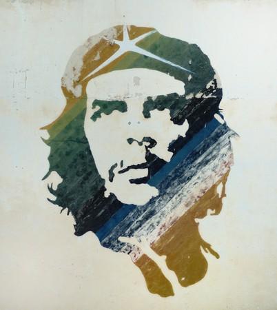 HAVANA - OCT 12, 2007. Che Guevara painting over building wall in Old Havana . Taken on October 12th, 2007 in Old Havana, Cuba.