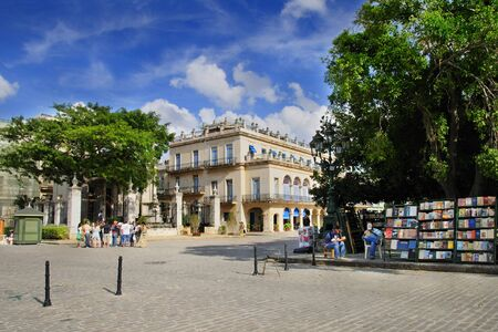View of Plaza de Armas located in the core of the original city of Havana founded by the Spanish in 1519. It was added to the UNESCO World Heritage List in 1982. Taken circa march 2009