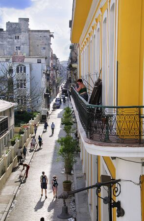 The narrow streets of Old Havana contain one-third of the approximately 3,000 buildings found in the city. Most of them have fallen in ruin, but a number are being restored. Taken Circa March 2009.