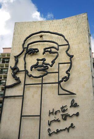 HAVANA - DEC 3RD, 2008. Popular government building with Che Guevara image in front of Revolution square. Taken on dec 3rd, 2008 in Havana, Cuba.