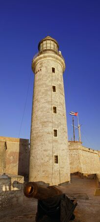 View of El morro spanish fortress lighthouse and cannon at Havana bay Stock Photo - 7814327