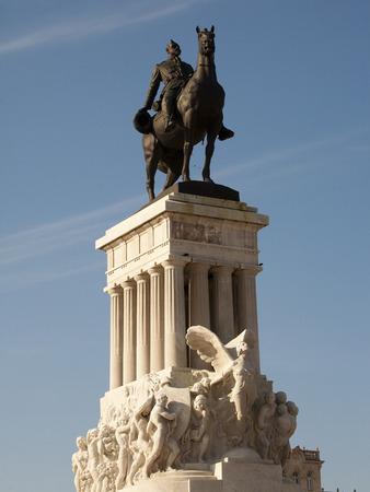 gomez: Detail of the monument to Major General Maximo Gomez in Havana, Cuba