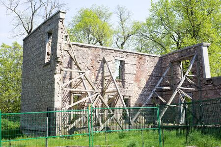 building structures: Ruins of the Hermitage at the Dundas Valley Conservation Area.