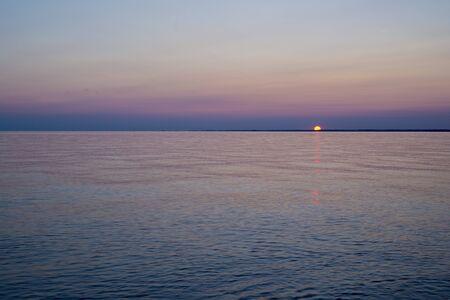 southwestern ontario: Sunset on a lake erie beach, Point Pelee conservation area, southwestern Ontario, Canada