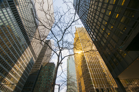 Buildings in financial district in downtown Toronto, Canada. Stock Photo