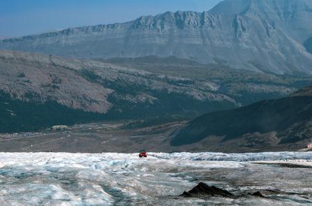 Athabasca Glacier at Jasper National Park Stock Photo