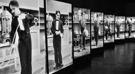 Charlie Chaplins Panel Stock Photo