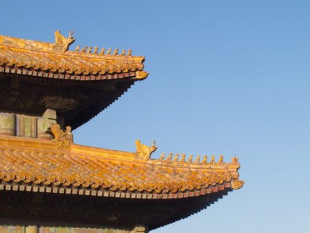 tilted: The eaves is the han nationality traditional building eaves of form, especially the eaves of a corner of the roof tilted upward.