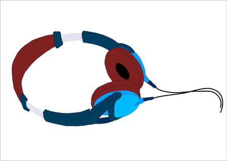 Graphic vector illustratie van een koptelefoon. Stock Illustratie