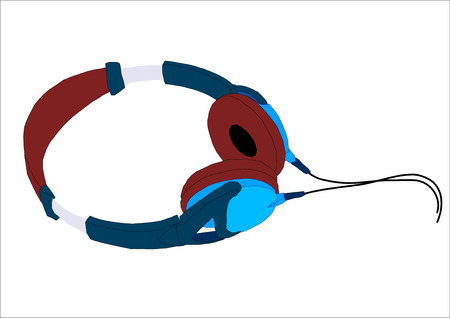 Graphic vector illustration of a pair of headphones.