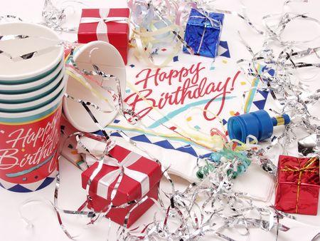 party time: La f�te pour un anniversaire, isol� sur un fond blanc