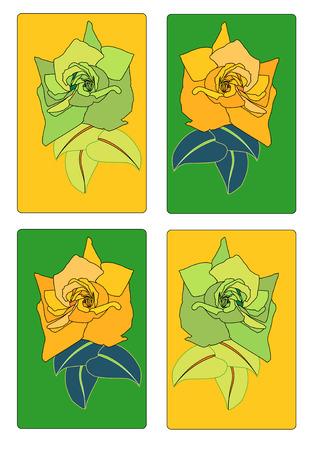 A Vector Illustration of several fine rose tags. Illustration