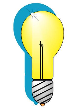A vector illustratiion of a incandescent light bulb