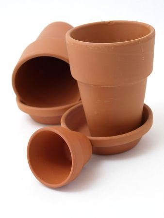 Terra Cotta Pots Stock Photo