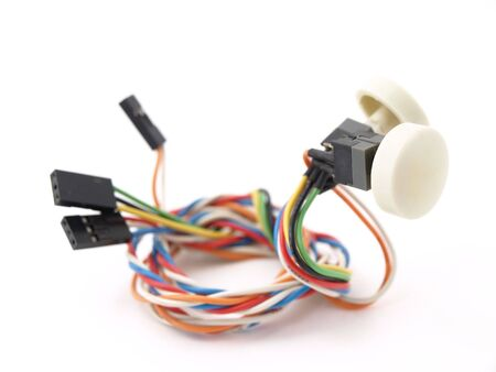Buttons and wiring isolated against a white background.