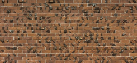 chipped: Chipped brick wall, gives a different texture look to it. Stock Photo
