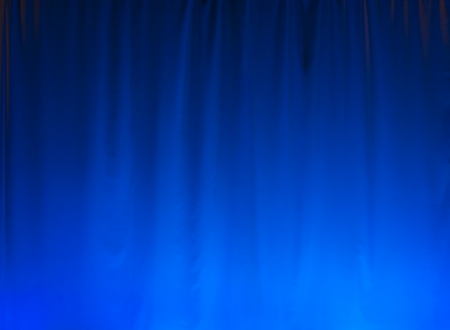 Nice blue lighted curtain, great for a background.