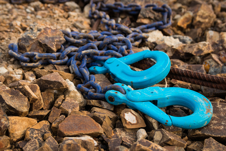 Blue color chain with two hooks