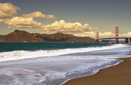 Golden Gate bridge as seen from Baker Beach.