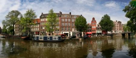 vista panormica paisaje de la ciudad de amsterdam holanda foto de archivo